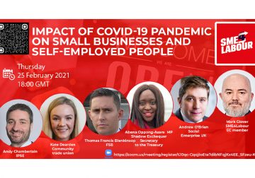 """SME4Labour Online Talk """"Impact of Covid-19 Pandemic on Small Businesses and Self-Employed People"""""""