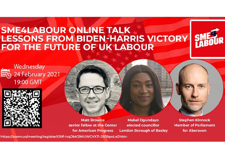"SME4Labour Online Talk ""Lessons from Biden-Harris Victory for the Future of UK Labour?"""