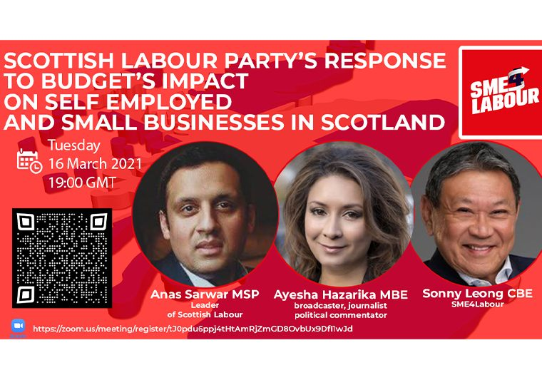 """SME4Labour Online Talk """"Scottish Labour Party's response to the budget's impact on self-employed and small businesses in Scotland"""""""