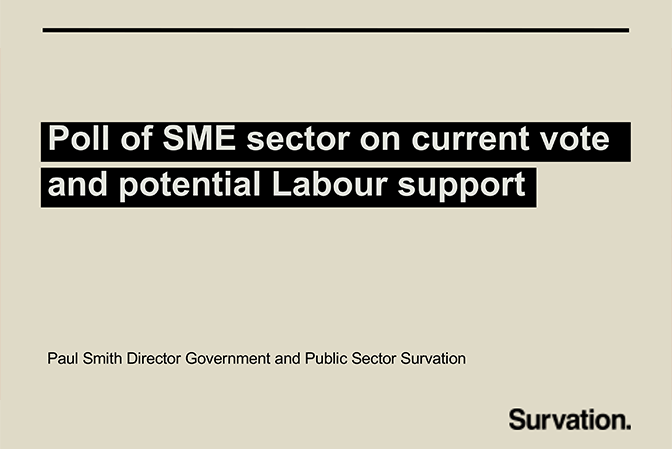 Poll of SME sector on current vote and potential Labour support